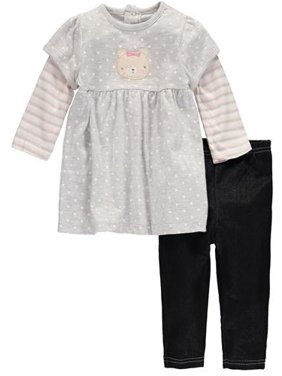 551cd45fc5a74 Product Image Girls 12-24 Months Bear Tunic Pant Set (Grey 18 Months)