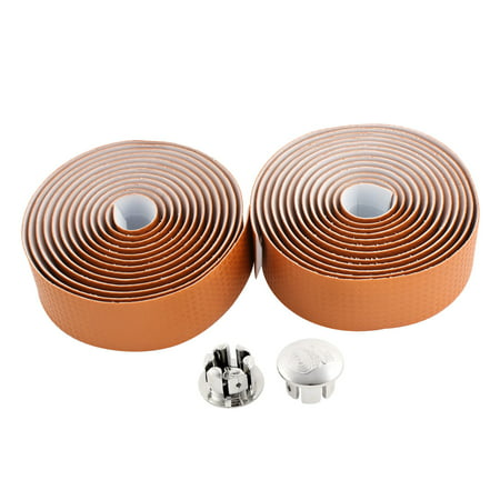 2 Pcs Orange Carbon Fiber Road Bike Handlebar Tape Bar Wrap
