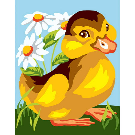 Duck Needlepoint (Collection D'Art Stamped Needlepoint Kit, 20cm x 25cm, Duck with Daisies )