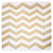 Coton Colors Chevron Square Platter, Cobble