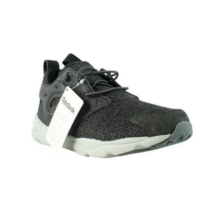 Reebok FuryLite GW Ash Grey/Coal/Steel/Black Casual Trainers Mens Athletic Shoes Size 5.55.5 New