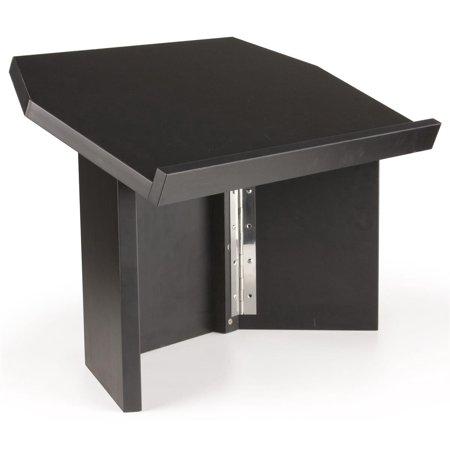 Displays2go Folding Tabletop Lectern for Use on a Counter, Portable Desktop Podium for Speaker -  Melamine