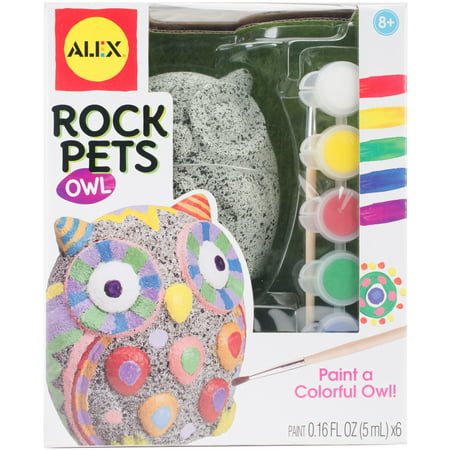 Rock Pets Paint Kit-Owl
