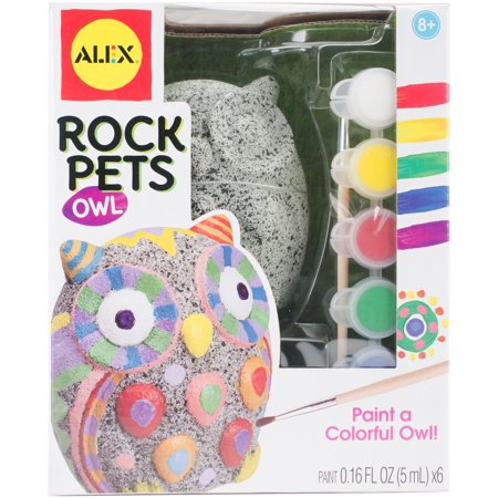 Rock Pets Paint Kit-Owl -