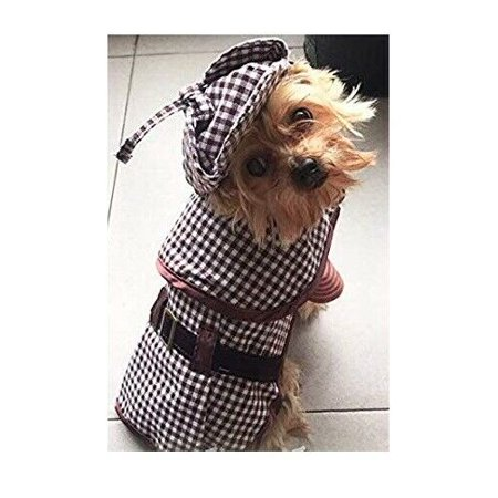 Sherlock Hound Costume for Smaller Dogs Brown Detective Outfit Size 6 CLOSEOUT !