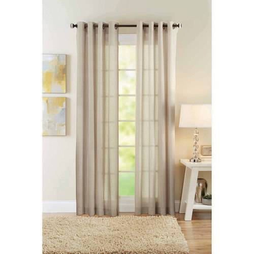 Better Homes And Gardens Semi Sheer Polyester Curtain Panel   Walmart.com
