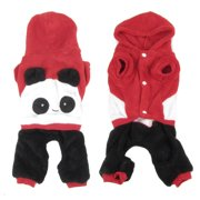Unique Bargains Single Breasted Hooded Chihuahua Pet Doggie Dog Cat Clothes Jumpsuit Red L