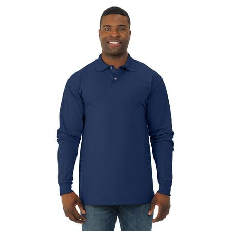 Jerzees Mens SpotShield Long Sleeve Jersey Sport Shirt, JZ437MLR, XL