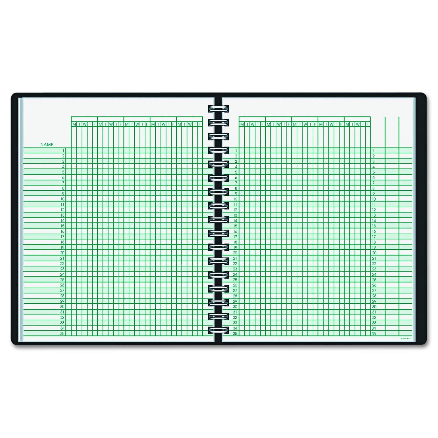 AT-A-GLANCE 8015005 Undated Class Record Book, 10 7 8 x 8 1 4, Black, An organized format for teachers to... by