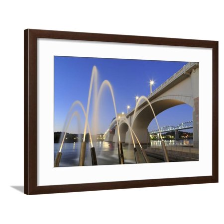Ross's Landing Fountain and Market Street Bridge, Chattanooga, Tennessee, United States of America Framed Print Wall Art By Richard Cummins](Fountain Valley Halloween Street)