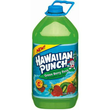 (4 Bottles) Hawaiian Punch Green Berry Mix, 128 Fl Oz