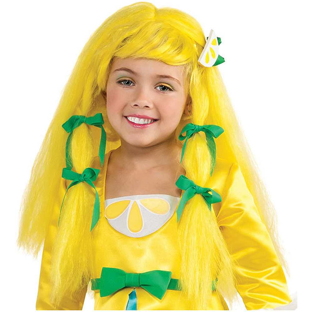 Child Strawberry Shortcake Lemon Meringue Yellow Blonde Costume Wig