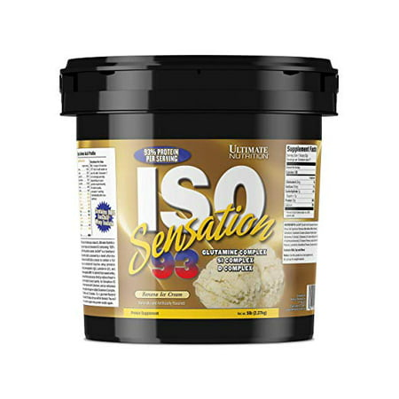 Ultimate Nutrition ISO Sensation 93 Whey Protein Isolate - Low Carb Keto Friendly with 5 Grams of Glutamine and 7 Gourmet Flavors, Banana, 5 (Iso Sensation 93 Cookies)