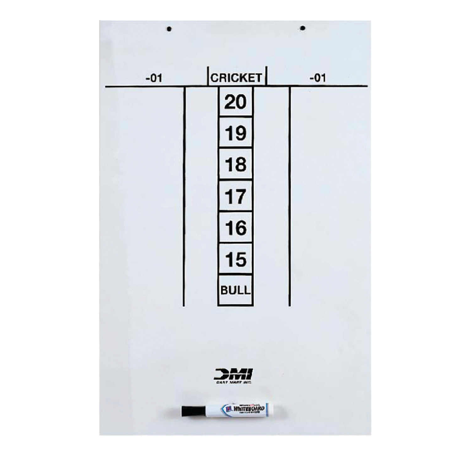 DMI Sports Darts Dry Erase Boards for Easy Scoring of Cricket with Dry Erase Marker Included