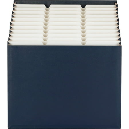 Smead Stadium® File, Alphabetic/ Monthly/ Daily, Household/ Blank Labels, 12 Pockets, Letter Size, Navy - Daily Pocket