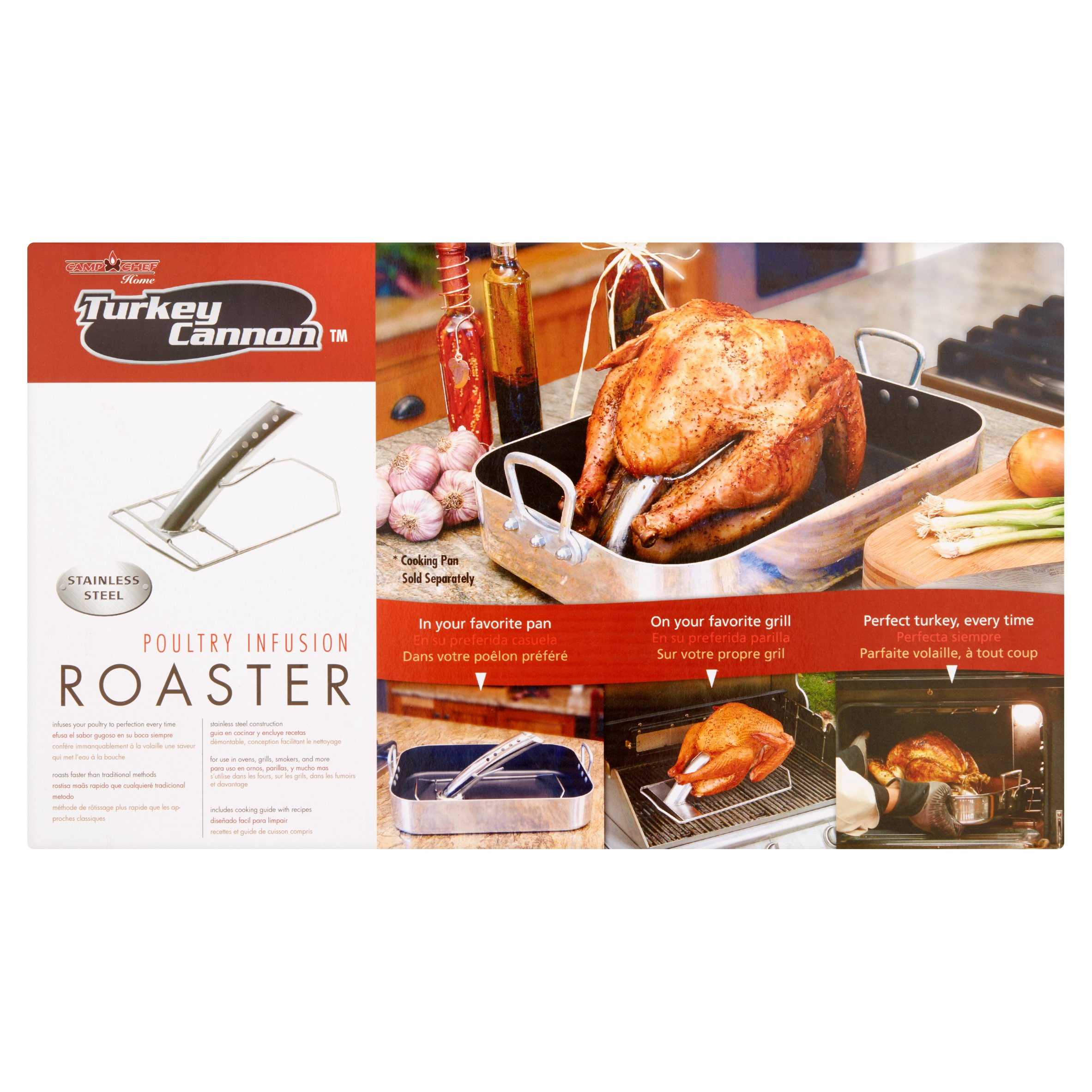 Camp Chef Turkey Cannon Stainless Steel Poultry Infusion Roaster