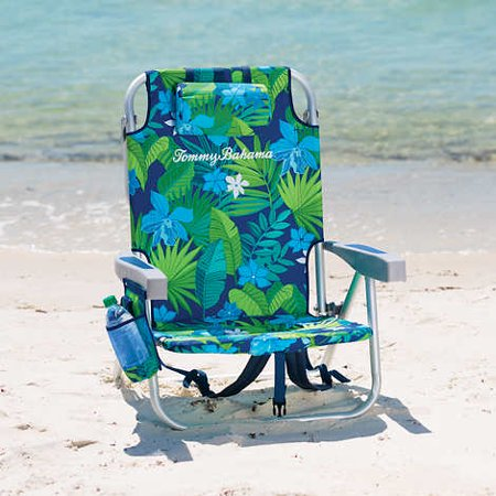 Tommy Bahama Backpack Beach Chair Green Floral