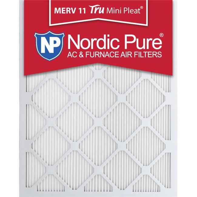 Nordic Pure 14x25x1 MERV 13 Tru Mini Pleat AC Furnace Air Filters 6 Pack