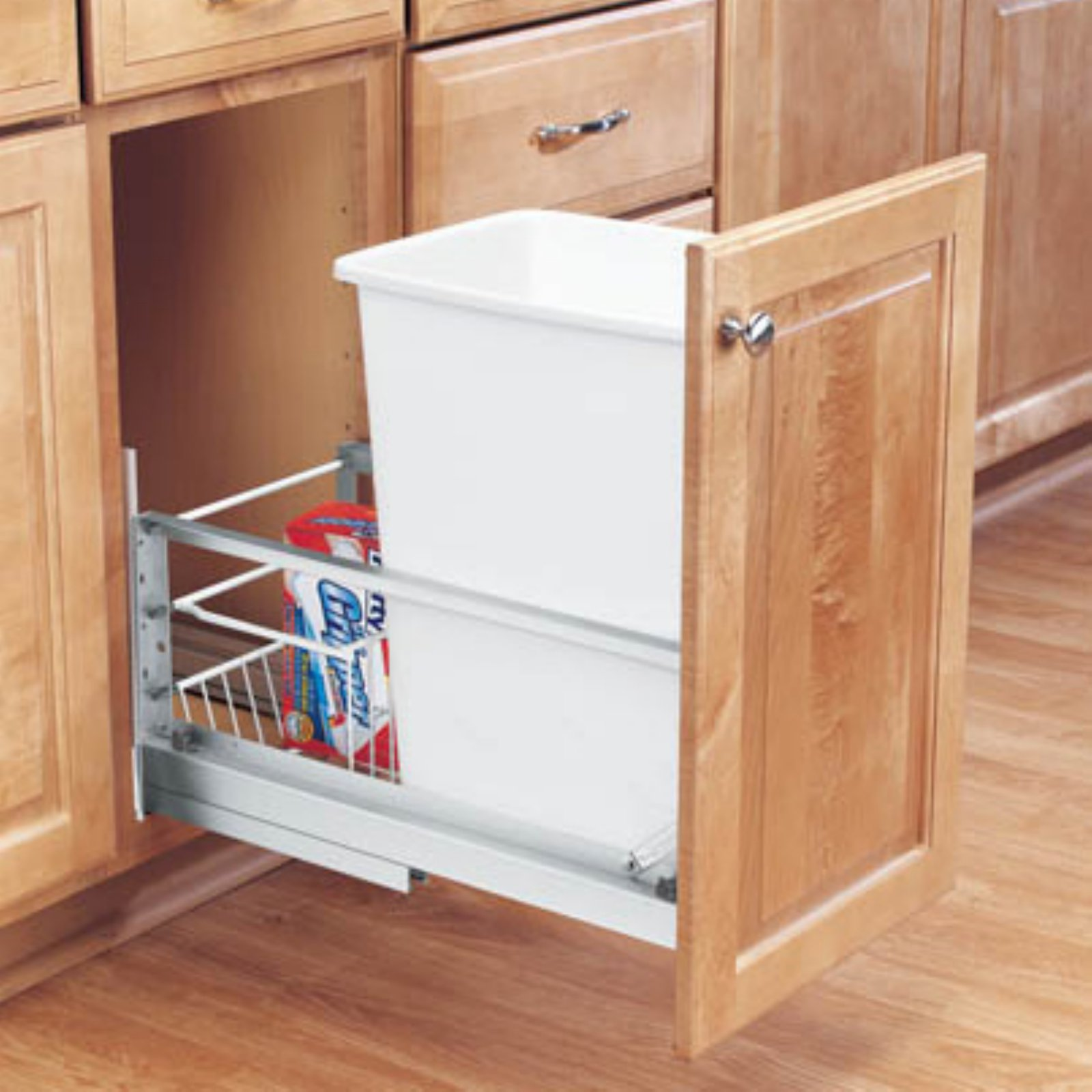 Rev-A-Shelf Soft Close Single Pull Out 35 qt. Trash Can
