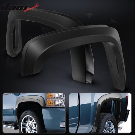 Fits 07-13 Chevy Silverado 1500 Short Bed OE Style Trunk Fender Flares - PP