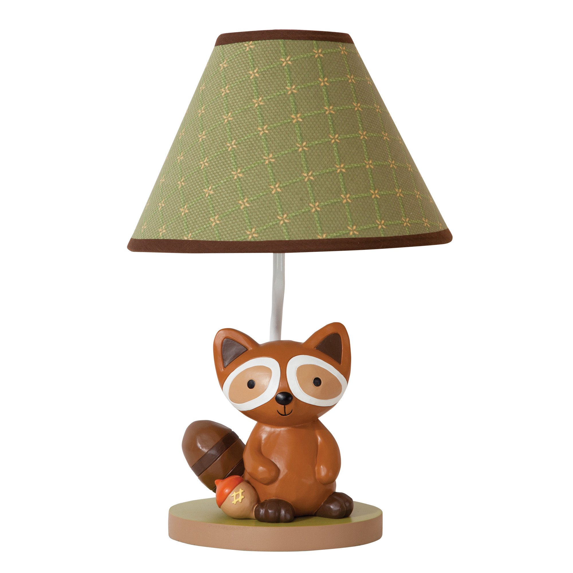 Lambs & Ivy Echo Lamp with Shade & Bulb Brown, Green, Animals, Woodland by Lambs & Ivy