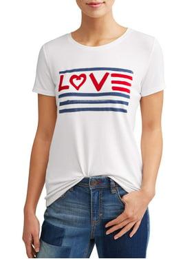 0c5ffe807b Product Image Love Flag Crew Neck Tee Women s (White)