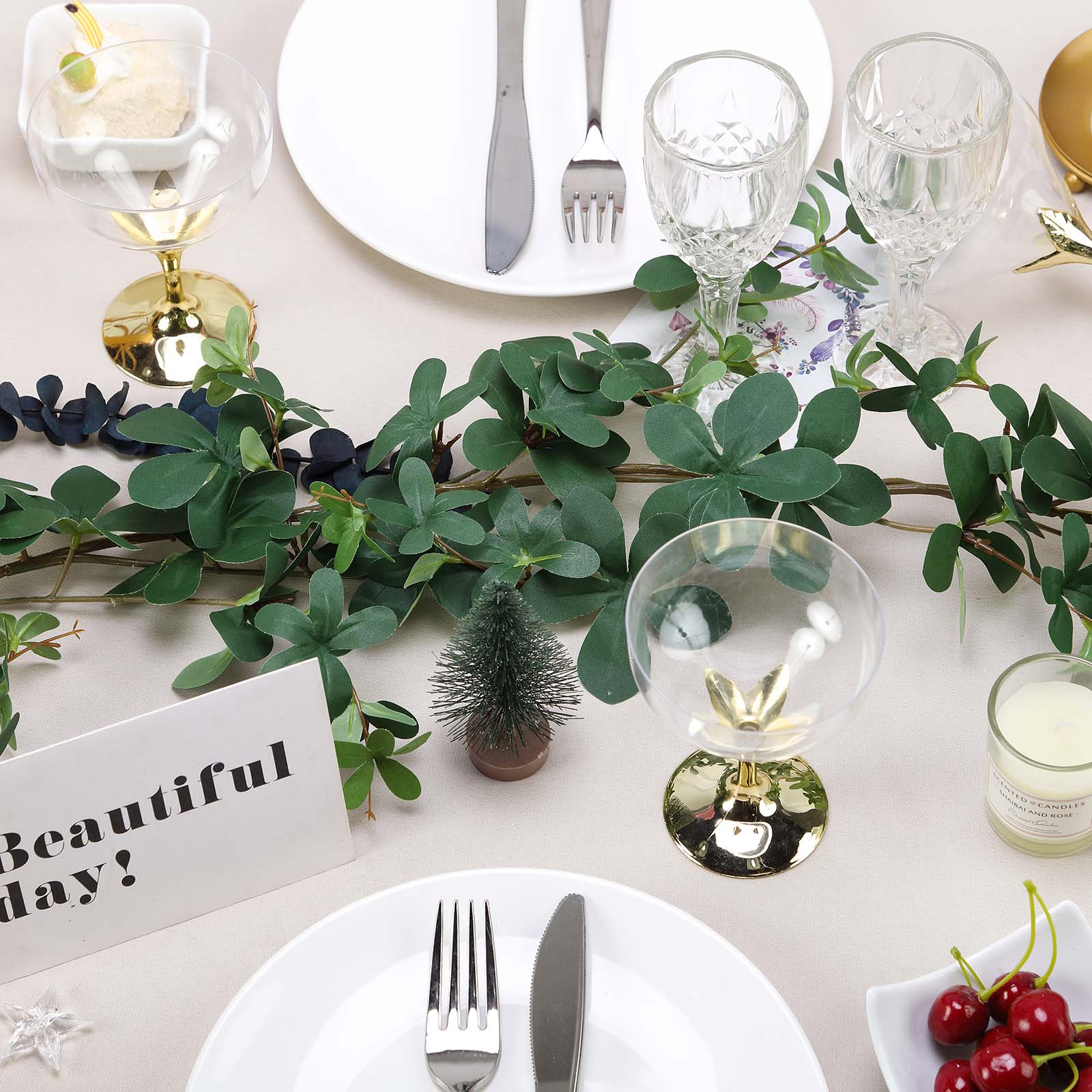 BalsaCircle 72,Inch long Extra Full Green Artificial Leaves Greenery Vine  Garland , Wedding Centerpieces Arrangements Decorations