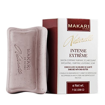Makari Naturalle Intense Extreme Skin Lightening Soap 7oz. - Exfoliating, Purifying & Whitening Bar Soap With Shea Butter & SPF 15 - Anti-Aging Cleansing Treatment for Dark Spots, Acne - 15 Soaps