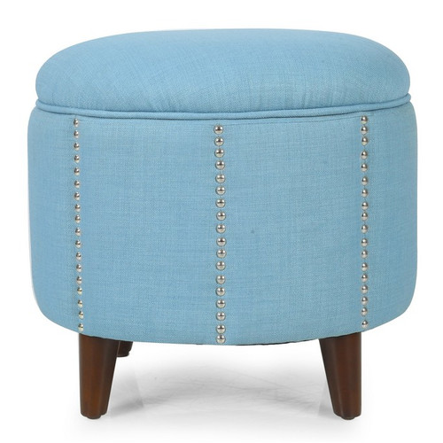 adeco stylish button tufted lift round storage ottoman