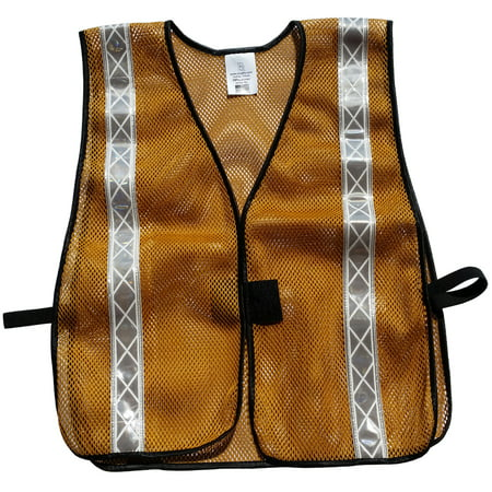 Soft Mesh Gold Safety Vests with Silver Stripes