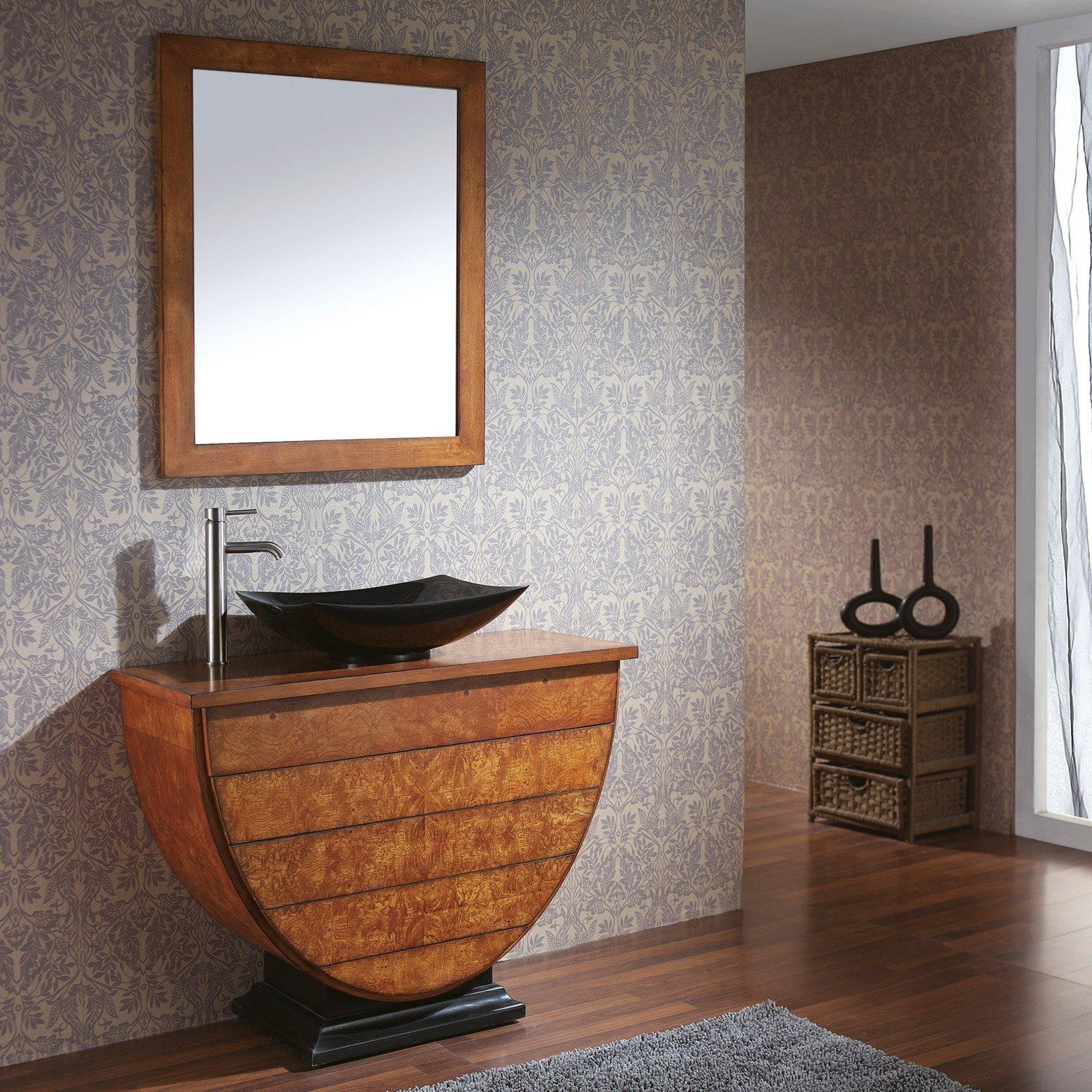 Avanity LEGACY-V40-BU Legacy 40-in. Golden Burl Single Bathroom Vanity with Optional Vessel