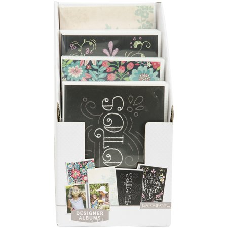 - K&Company Floral & Chalk 1-Up Photo Albums 12/PDQ Display-Holds (32) 4