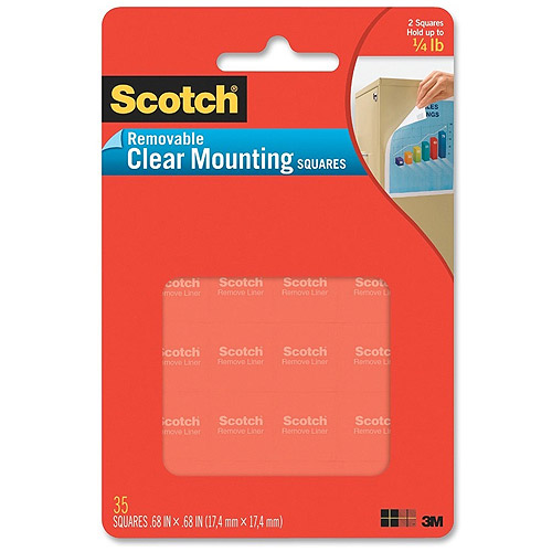 Scotch Clear Mounting Squares