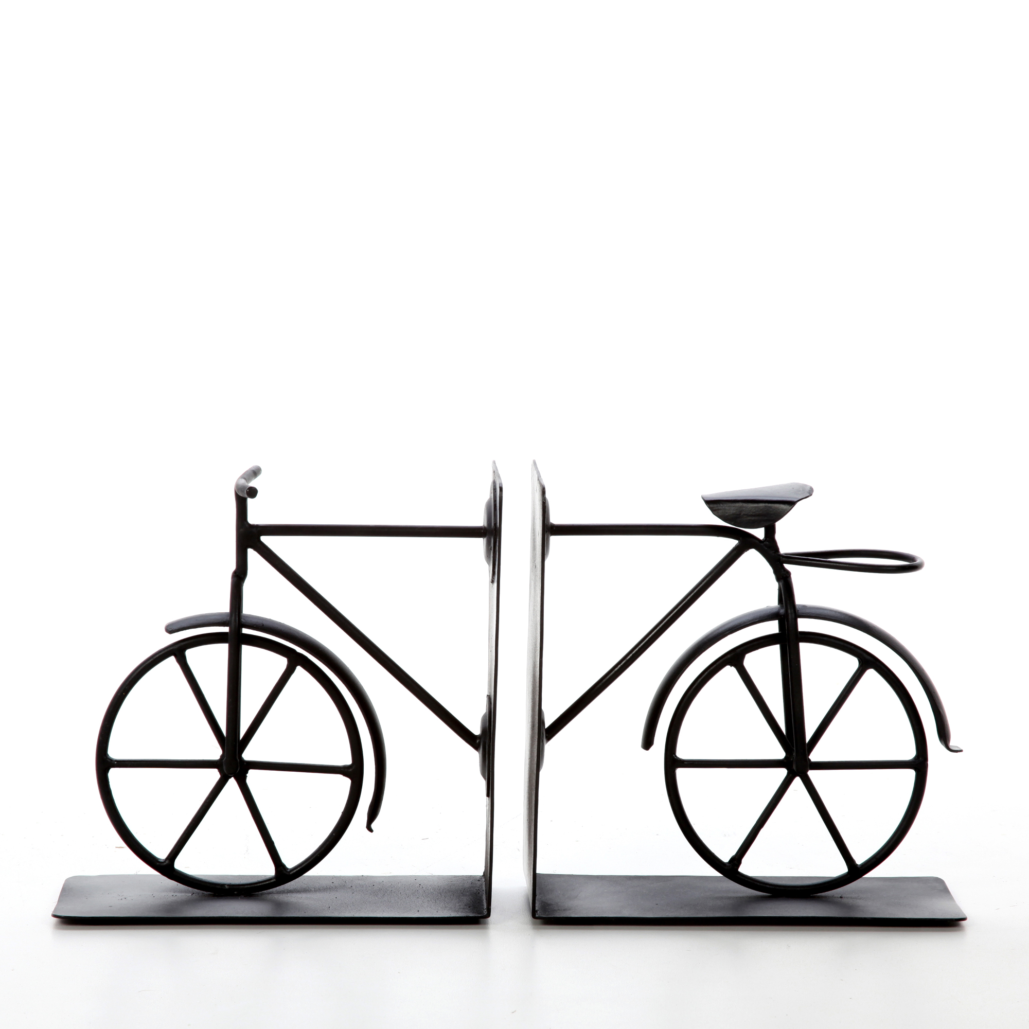 Decorative Tabletop Bicycle Bookend Black, Set of 2 by Generic