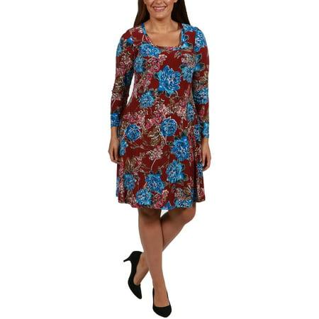 24/7 Comfort Apparel - Breath of Fresh Air Plus Size Dress - Walmart.com