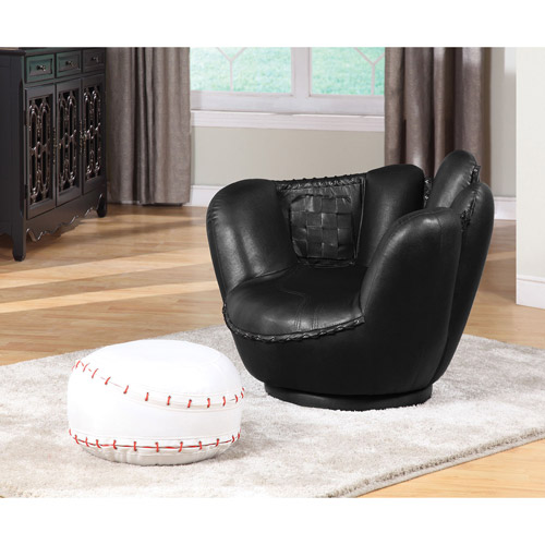 Acme All Star Baseball 2-Piece Chair and Ottoman Set by Acme