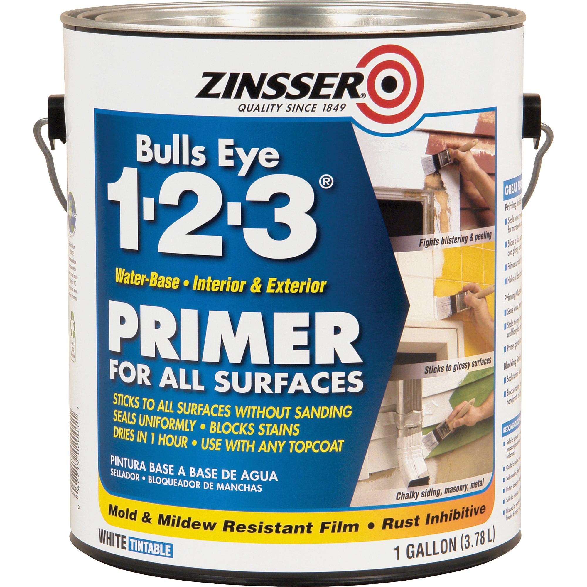 Zinsser, RST2001, Bulls Eye 1-2-3 Primer, 1 Each