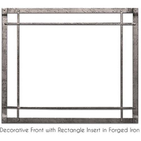 Empire DFF36FPD Forged Iron Frame Decorative Front - Distressed Pewter