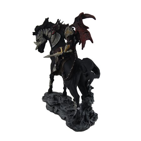 Tarragon Traveler Red Dragon Knight w/Sword On Armored Black Stallion Statue - image 1 of 4