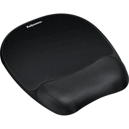 Fellowes, FEL9176501, Memory Foam Mouse Pad/Wrist Rest- Black, 1, Black