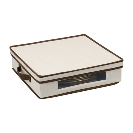 Household Essentials - Window Vision Accent Plate Chest in Cream and Brown - Chest Plate