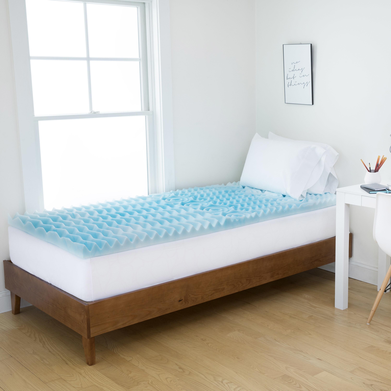 Authentic Comfort  2-Inch Comfort Rx 5-Zone Foam Dorm Mattress Topper