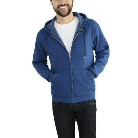 83dee0187c Fruit of the Loom - Fruit of the Loom Men's Dual Defense EverSoft Fleece  Full Zip Hooded Sweatshirt - Walmart.com