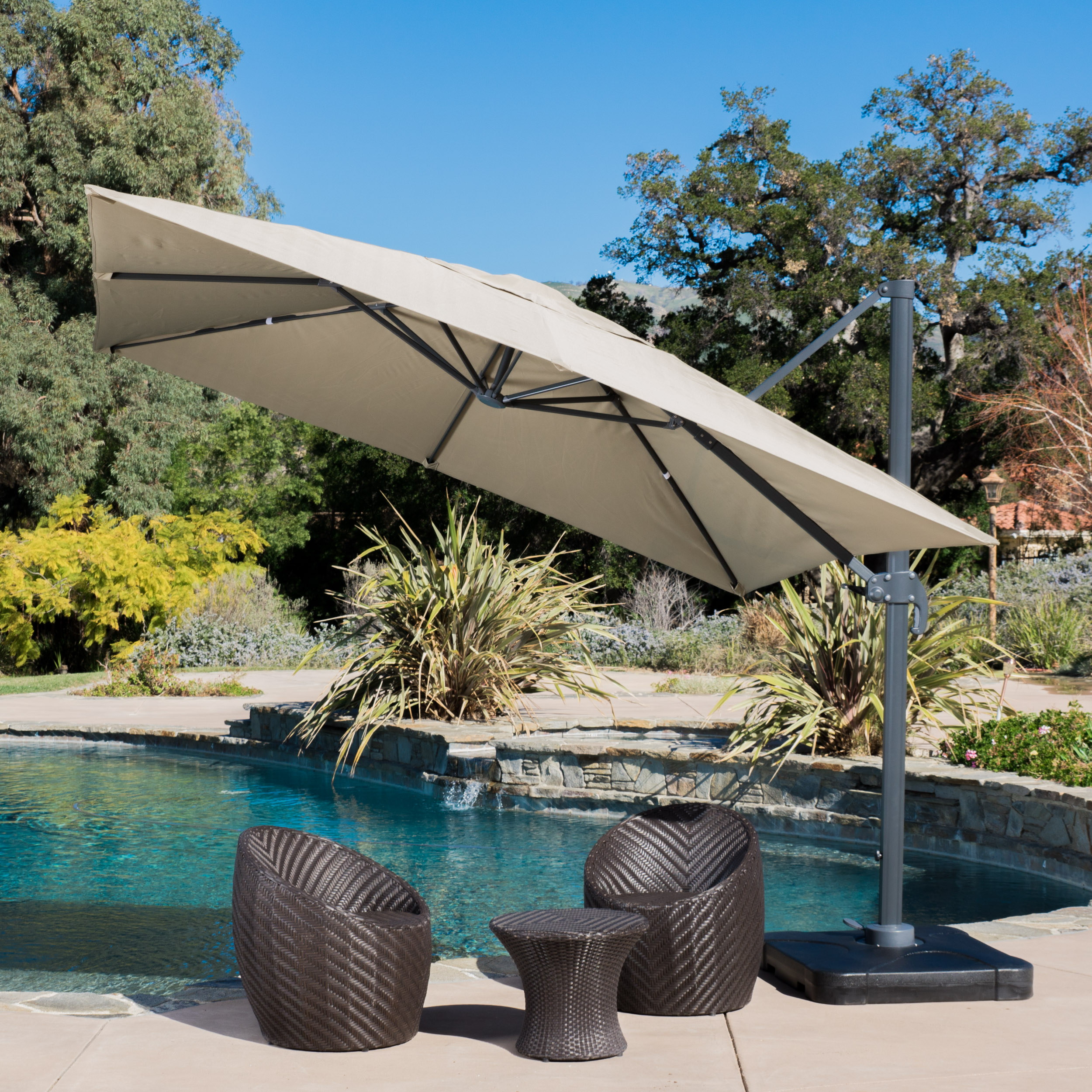 Gianna 9.8 Foot Umbrella with Stand by GDF Studio