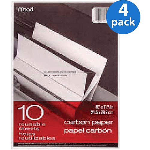 Mead Black Carbon Mill Finish Paper, 10 Sheets/Pk, 4 Pack