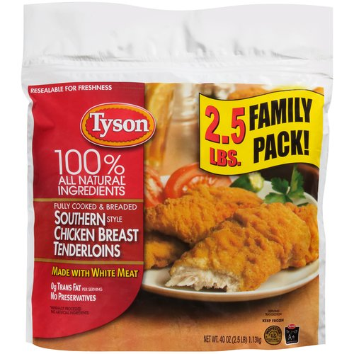 Tyson Southern Style Chicken Breast Tenderloins, 40 oz