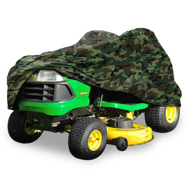 "Deluxe Riding Lawn Mower Tractor Cover Fits Decks up to 54"" - Camouflage - Water, Mildew, and UV Resistant Storage Cover"