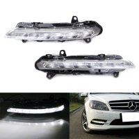 iJDMTOY A Pair Left/Right OEM Spec LED Daytime Running Lamps Replacement For Mercedes Benz W204 W218 W221 X204 C CLS S GLK Class, etc