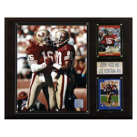 C&I Collectables NFL 12x15 Montana-Rice San Francisco 49ers Player Plaque