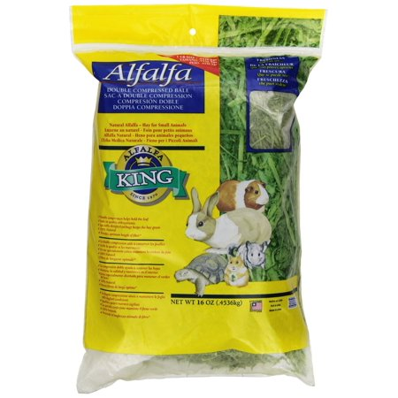 Alfalfa King Double Compressed Alfalfa Hay Pet Food Treat, 12 By 9 By - Alfalfa Hay Cubes